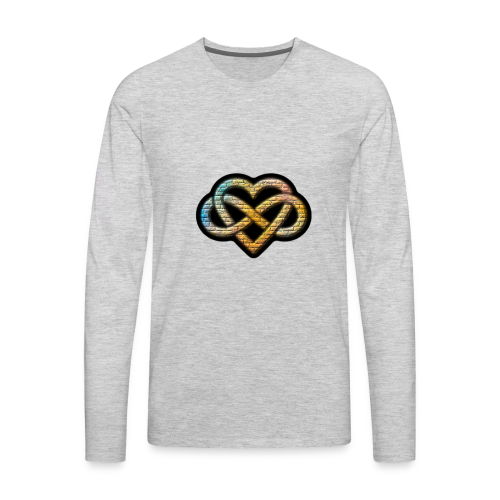 Polyamory Infinity Heart - Men's Premium Long Sleeve T-Shirt