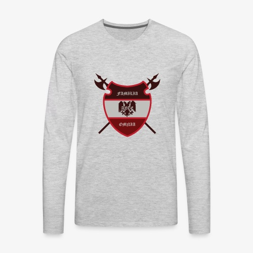 House Pendragon Crest - Family Before All - Men's Premium Long Sleeve T-Shirt