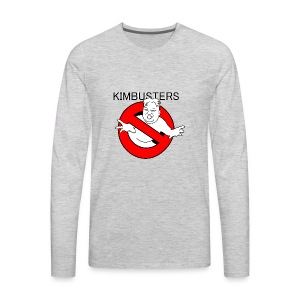 Kimbusters (with text) - Men's Premium Long Sleeve T-Shirt
