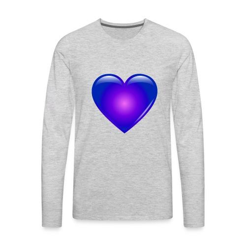 Blue Heart - Men's Premium Long Sleeve T-Shirt