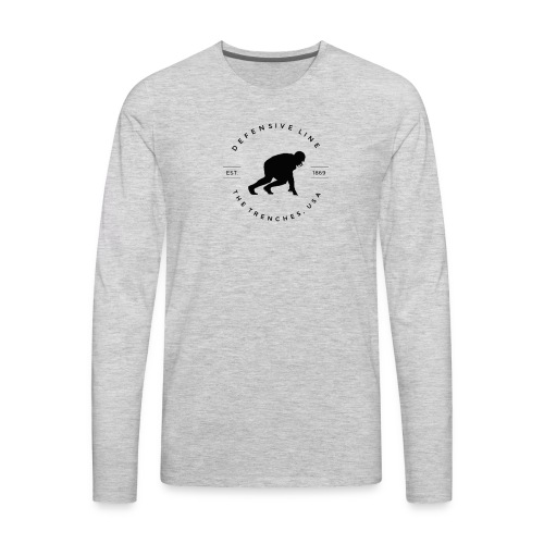 Defensive Line Tee - Men's Premium Long Sleeve T-Shirt