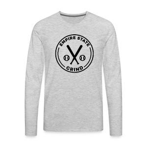 Empire State Grind (Black) - Men's Premium Long Sleeve T-Shirt