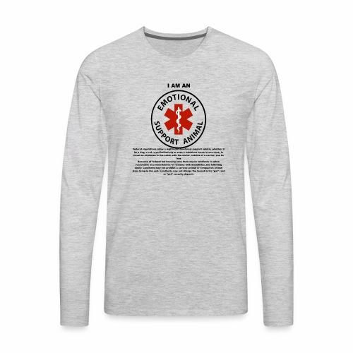 emotional support animal - Men's Premium Long Sleeve T-Shirt