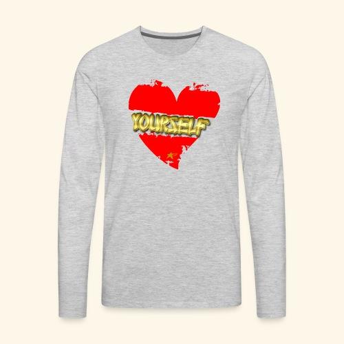 Love Yourself T-shirt - Men's Premium Long Sleeve T-Shirt