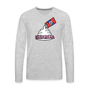 haircream cream logo - Men's Premium Long Sleeve T-Shirt