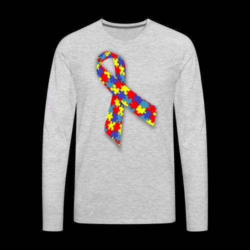 autism awareness ribbon - Men's Premium Long Sleeve T-Shirt