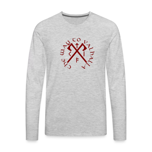 The Way To Valhalla - Men's Premium Long Sleeve T-Shirt