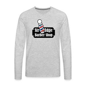 Str8 Edge Logo - Men's Premium Long Sleeve T-Shirt