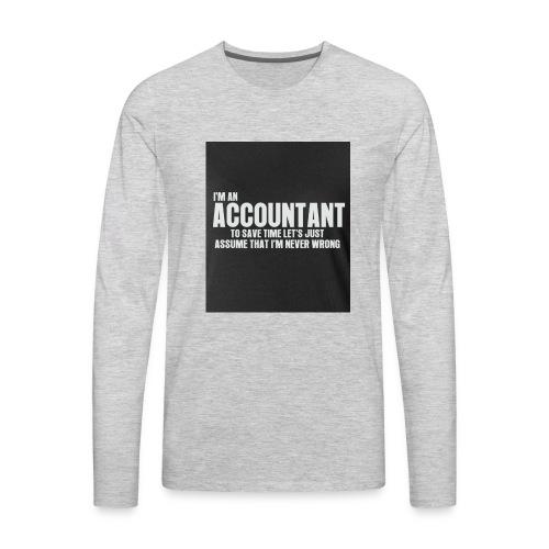 accountant - Men's Premium Long Sleeve T-Shirt