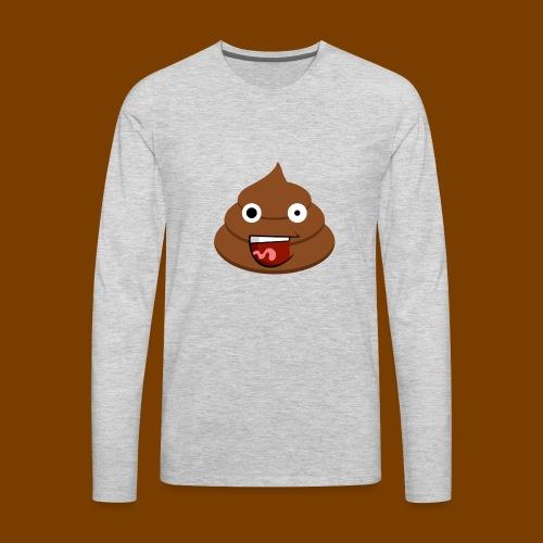 Poop Logo - Men's Premium Long Sleeve T-Shirt