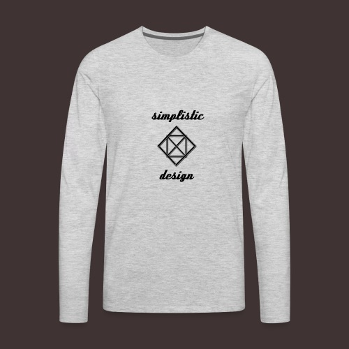 Simplistic Design Logo With Text - Men's Premium Long Sleeve T-Shirt