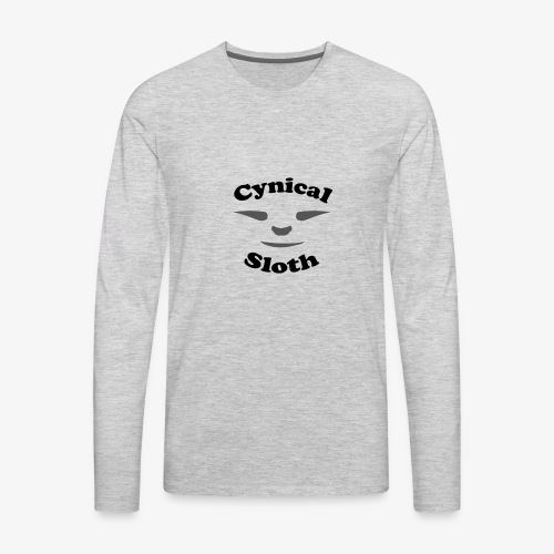 Cynical Sloth limited-edition company logo - Men's Premium Long Sleeve T-Shirt
