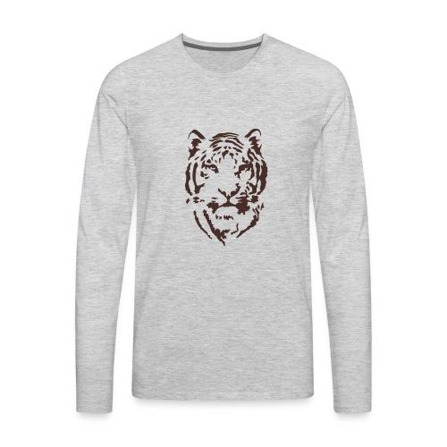 Tiger Printed T-shirt - Men's Premium Long Sleeve T-Shirt