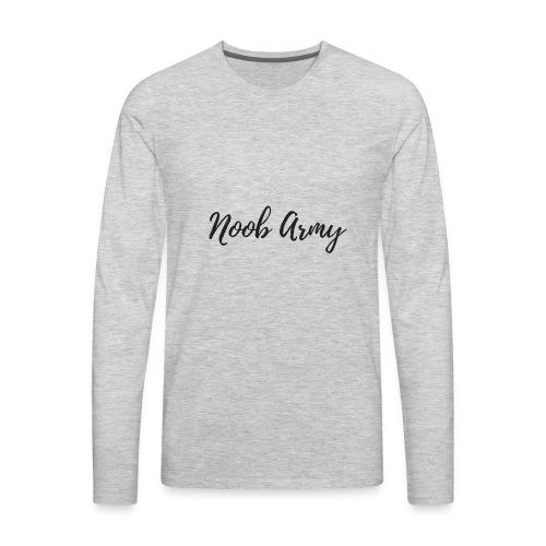 Noob Army (No Symbol) - Men's Premium Long Sleeve T-Shirt