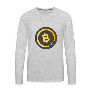 BitcoinZ Logo - Men's Premium Long Sleeve T-Shirt