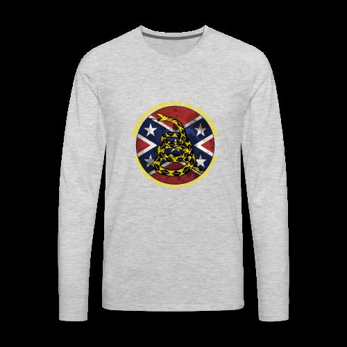 Pro-White Libertarianism Logo - Men's Premium Long Sleeve T-Shirt