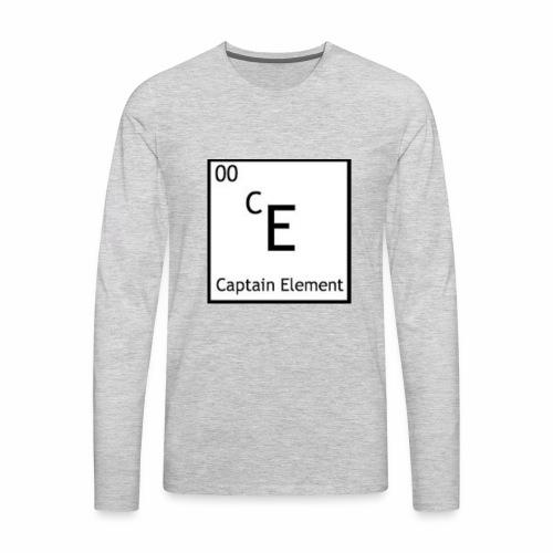 Captain Element Logo - Men's Premium Long Sleeve T-Shirt