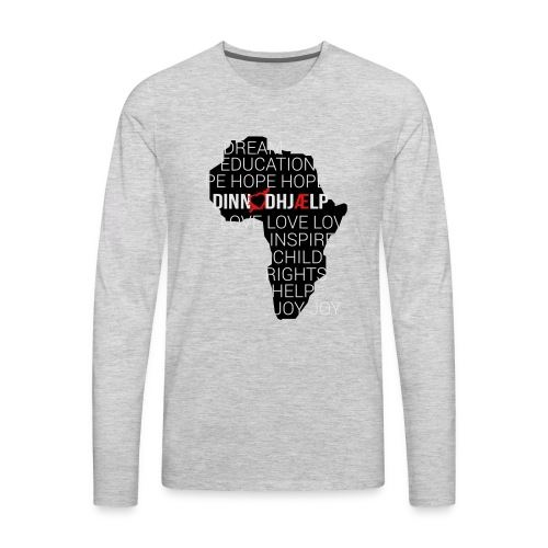 DINNoedhjaelp Africa logo - Men's Premium Long Sleeve T-Shirt