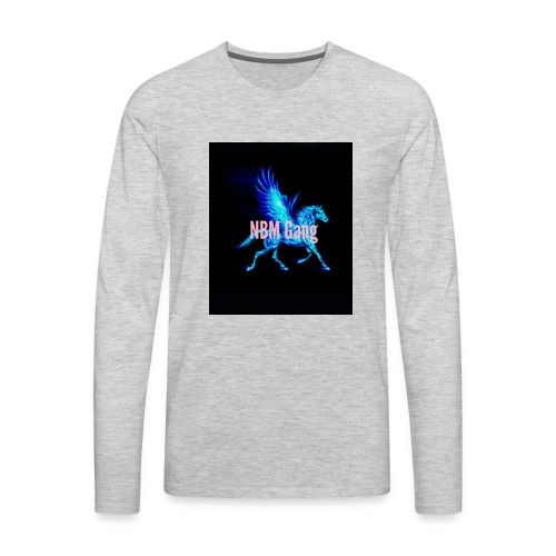 Blue Mustang iphone case (NBM Gang) - Men's Premium Long Sleeve T-Shirt