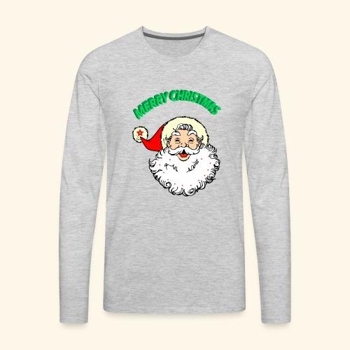 merry christmas santa claus - Men's Premium Long Sleeve T-Shirt