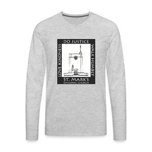 Black St. Mark's Logo - Men's Premium Long Sleeve T-Shirt