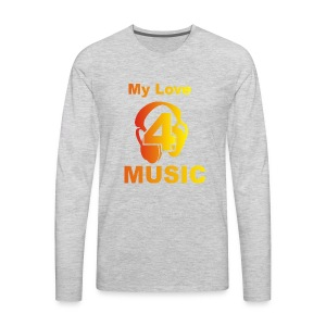 Blackprince LOVE FOR MUSIC - Men's Premium Long Sleeve T-Shirt