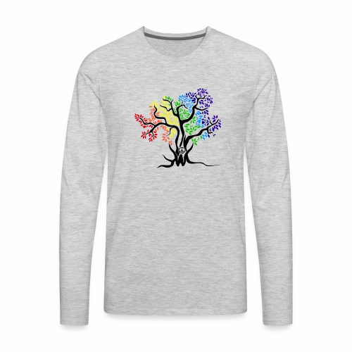 3WC Rainbow Tree - Men's Premium Long Sleeve T-Shirt