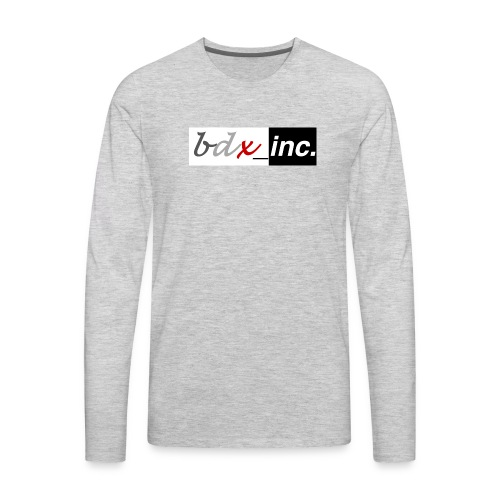 Solid Logo (Black+White) - Men's Premium Long Sleeve T-Shirt