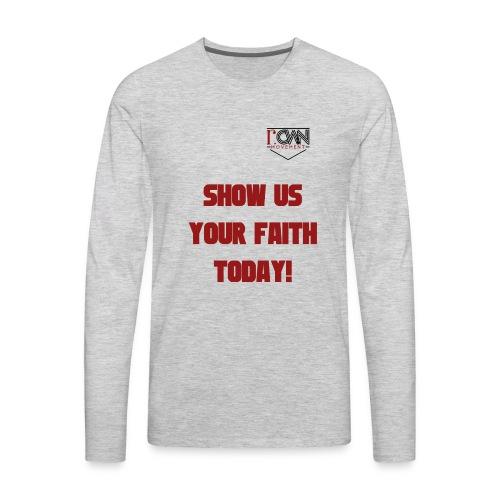 rOWN LOGO T SHIRT - Men's Premium Long Sleeve T-Shirt