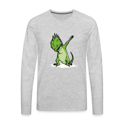 Funny Iguana Dabbing Pet Dab Dance - Men's Premium Long Sleeve T-Shirt