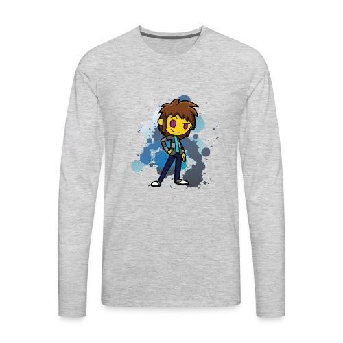 Darkar Paint Blue - Men's Premium Long Sleeve T-Shirt