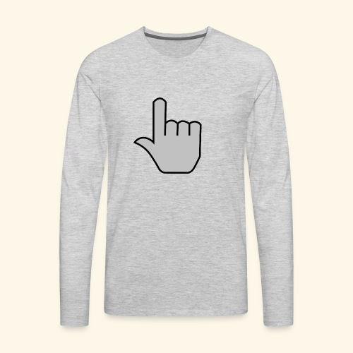 click - Men's Premium Long Sleeve T-Shirt
