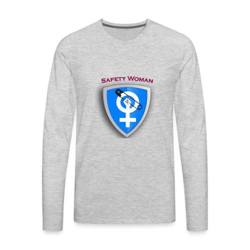 Safety Woman. facebook.com/besafewoman - Men's Premium Long Sleeve T-Shirt