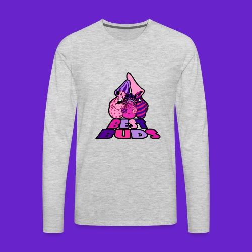 BEST BUDS PINK PURPLE - Men's Premium Long Sleeve T-Shirt