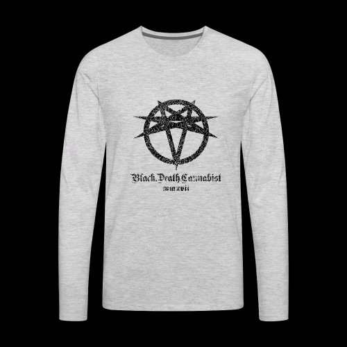 Black Death Cannabis - Logo - Men's Premium Long Sleeve T-Shirt