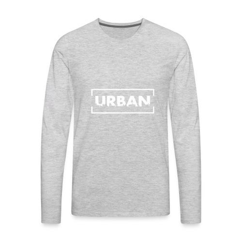 Urban City Wht - Men's Premium Long Sleeve T-Shirt