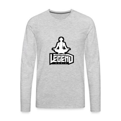 Enter The Legend Music B/W - Men's Premium Long Sleeve T-Shirt