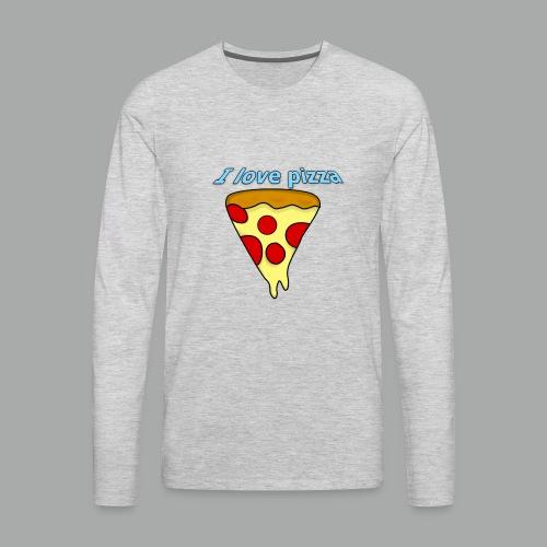 I love pizza - Men's Premium Long Sleeve T-Shirt
