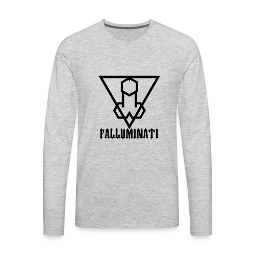 Falluminati on your phone by Umberto Lizard - Men's Premium Long Sleeve T-Shirt