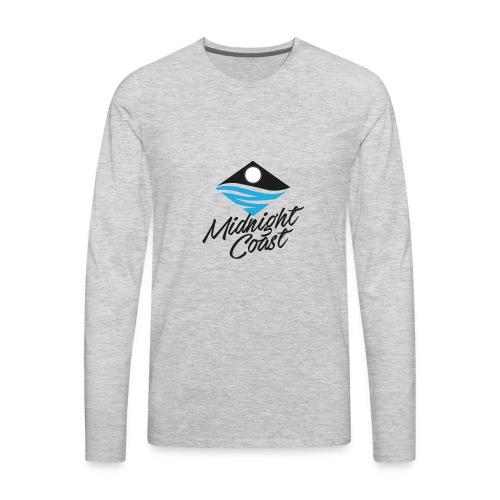 Midnight Coast Logo - PLUS Size Store - Men's Premium Long Sleeve T-Shirt