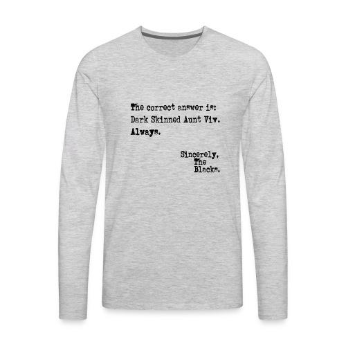 Aunt Viv - Men's Premium Long Sleeve T-Shirt