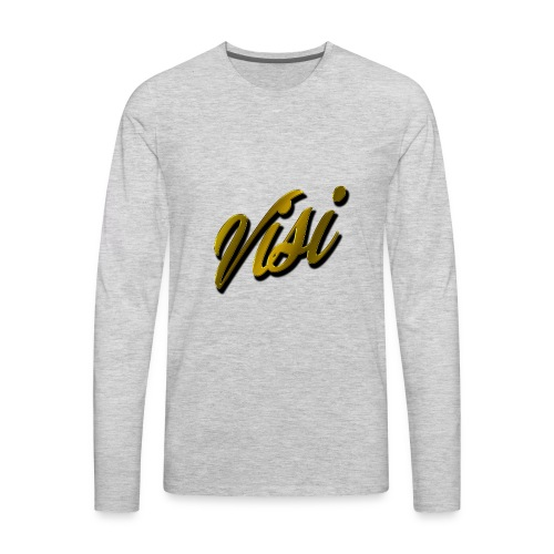 Cursive Gold VISI Text - Men's Premium Long Sleeve T-Shirt