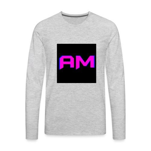 Pink, Blue, and black LOGO - Men's Premium Long Sleeve T-Shirt