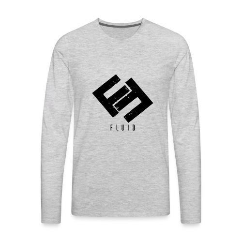 Fluid Logo - Men's Premium Long Sleeve T-Shirt