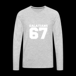 G67 White - Men's Premium Long Sleeve T-Shirt