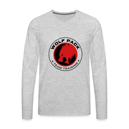 Wolf Pack Logo - Men's Premium Long Sleeve T-Shirt