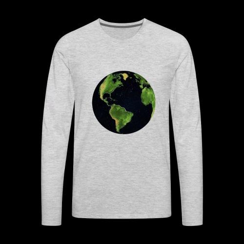Galactic Earth - Men's Premium Long Sleeve T-Shirt
