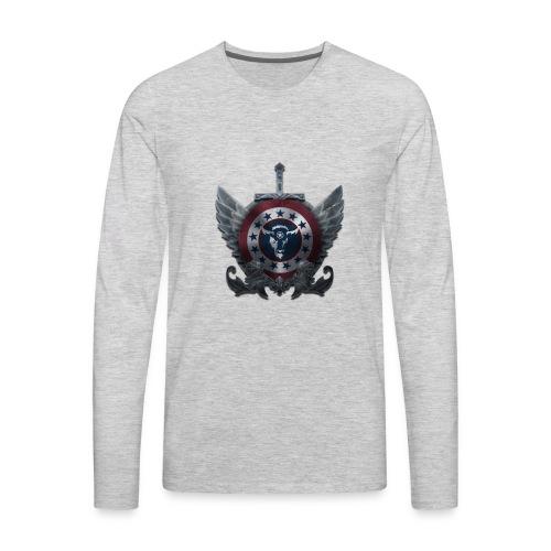 Guardians of America - Medium Logo - Men's Premium Long Sleeve T-Shirt