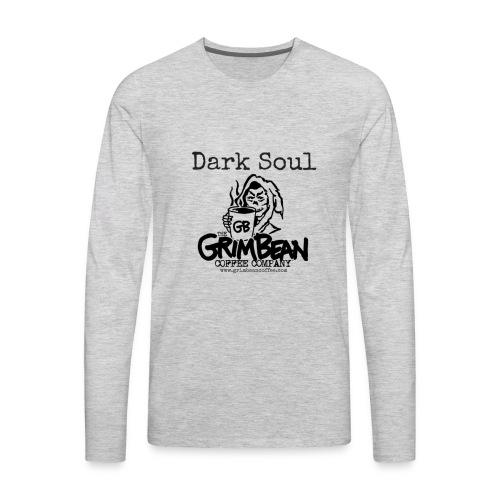 Grim Bean Coffee Company Dark Soul - Men's Premium Long Sleeve T-Shirt