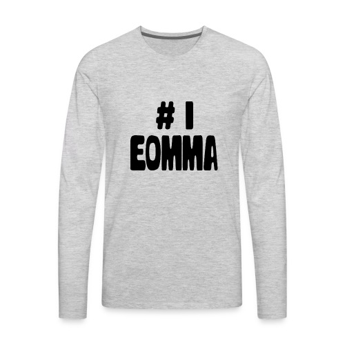 #1 Eomma - Men's Premium Long Sleeve T-Shirt